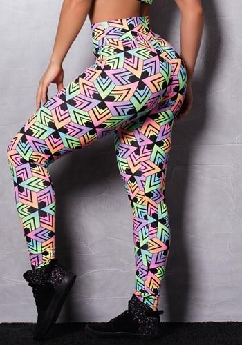 Calça suplex estampada neon colors