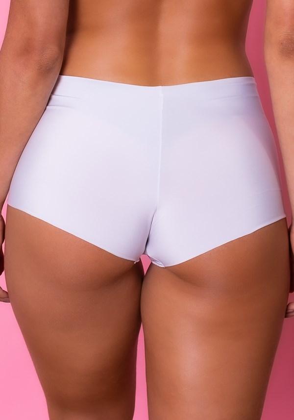 Calcinha boxer intimate sem costura branca