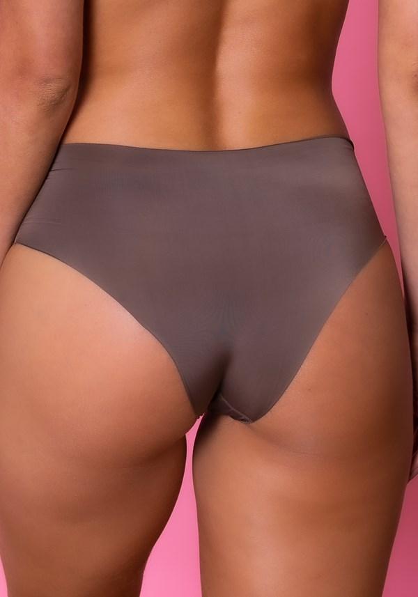 Calcinha hot pant intimate sem costura castanho