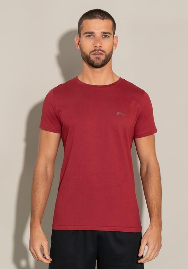 Camiseta algodão manga curta for men slim ameixa