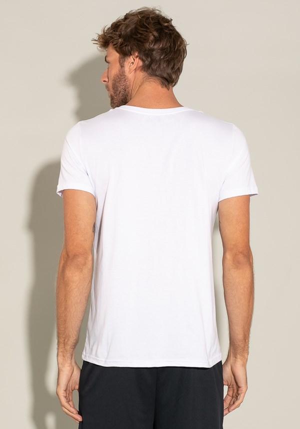 Camiseta algodão manga curta for men slim branco