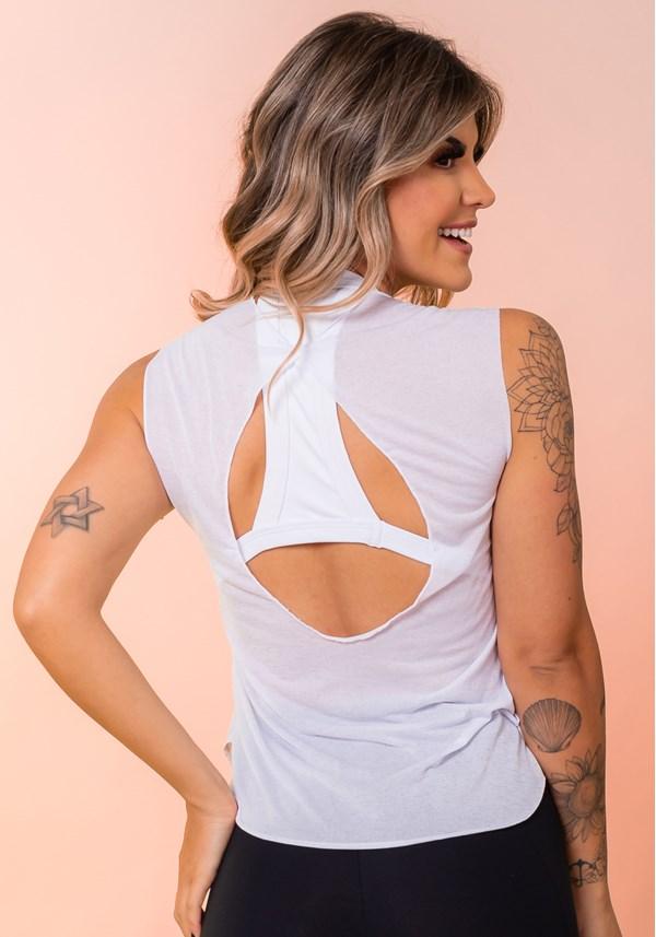 Camiseta branca com silk dlk básica