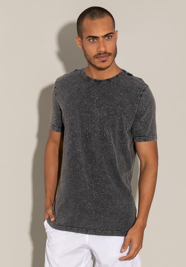 Camiseta manga curta estonada for men preto