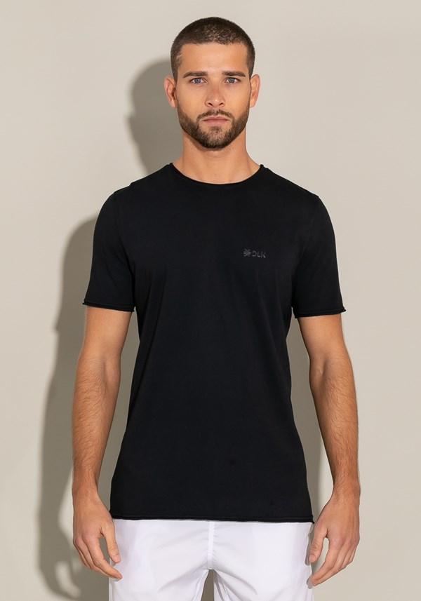 Camiseta manga curta for men acabamento a fio preto