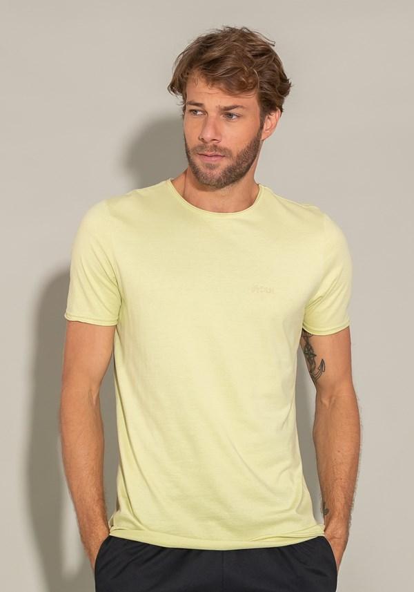 Camiseta manga curta for men acabamento a fio verde