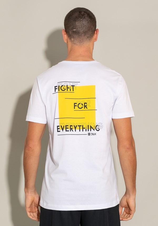 Camiseta manga curta for men fight for everything branca