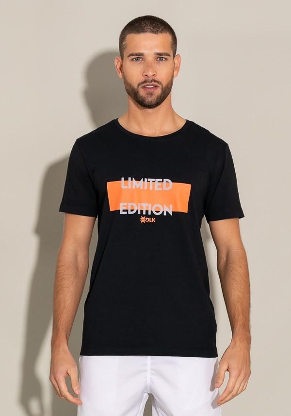 Camiseta manga curta for men motivation preta