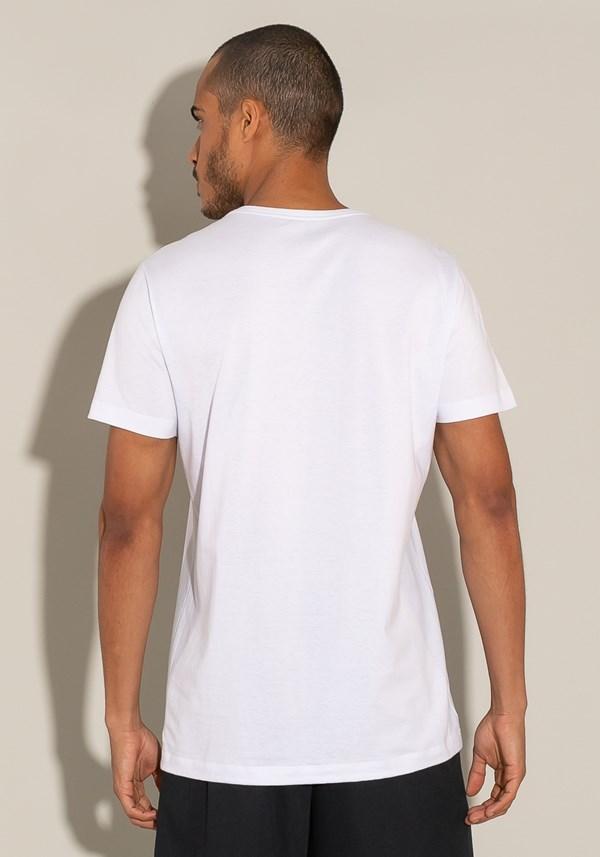 Camiseta manga curta for men slim branca com silk paradise