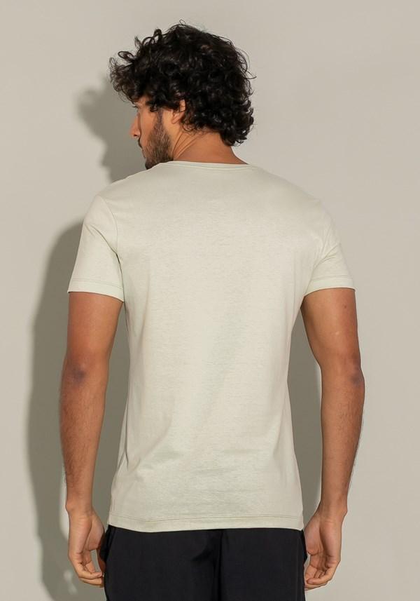 Camiseta manga curta for men slim follow areia
