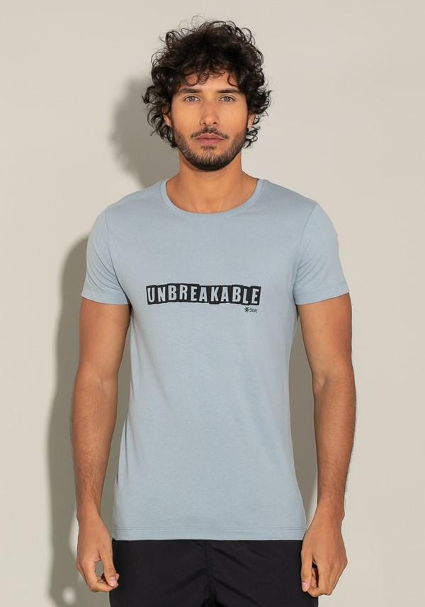 Camiseta manga curta for men slim unbreakable azul acinzentado