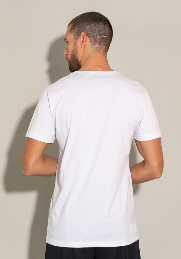 Camiseta manga curta for men wave branco