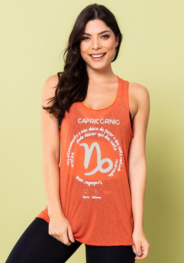 Camiseta nadador energy laranja capricórnio