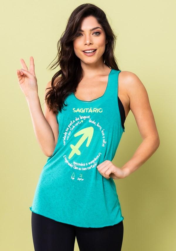 Camiseta nadador energy verde sagitário
