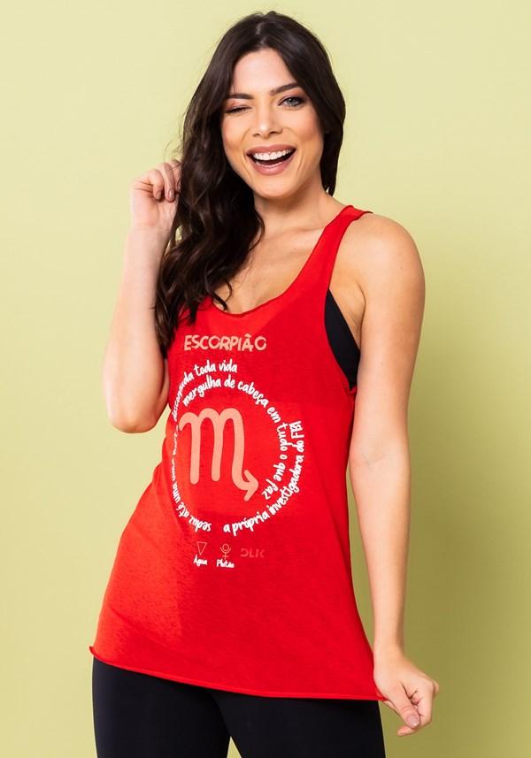 Camiseta nadador energy vermelha escorpião