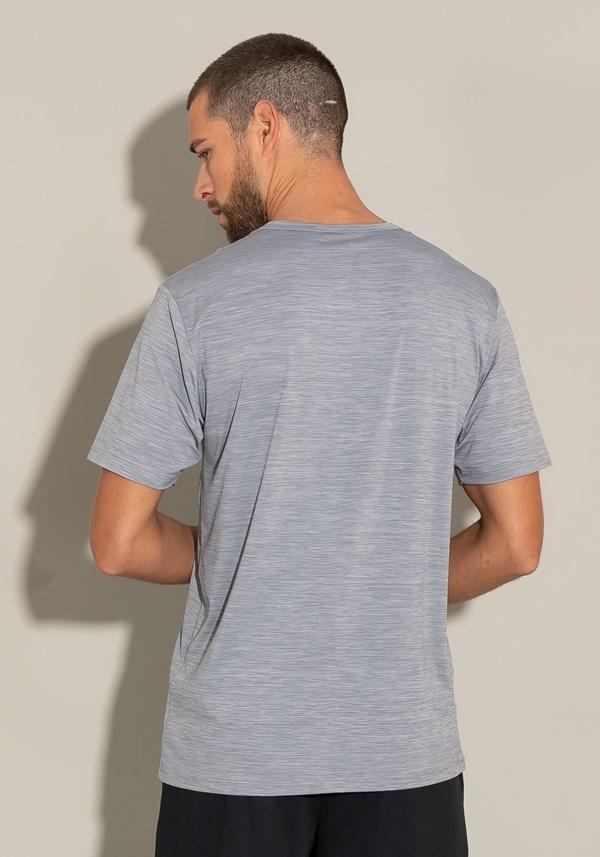 Camiseta poliamida manga curta for men cinza