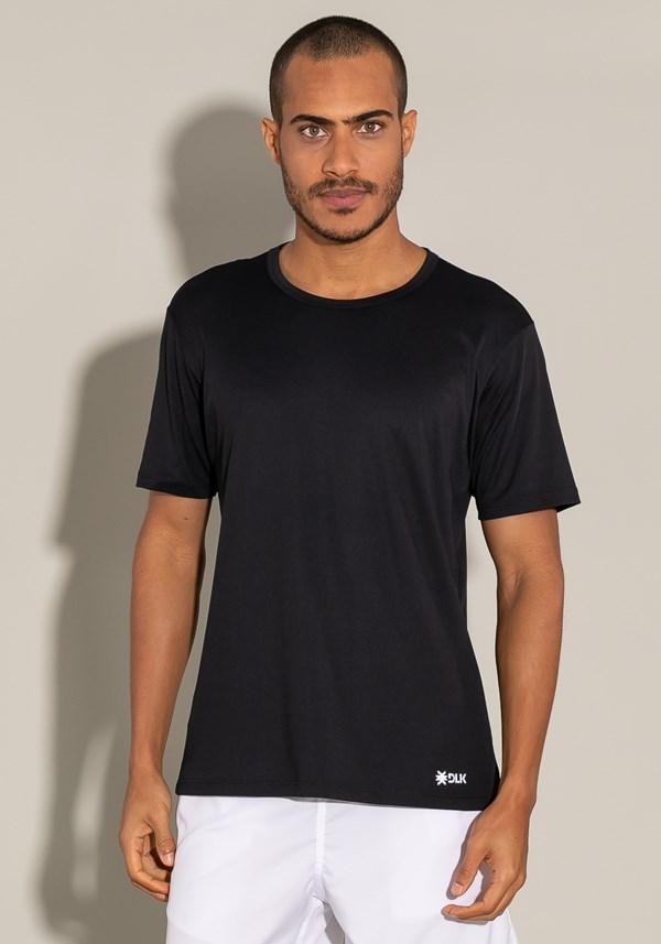 Camiseta poliamida manga curta for men preto