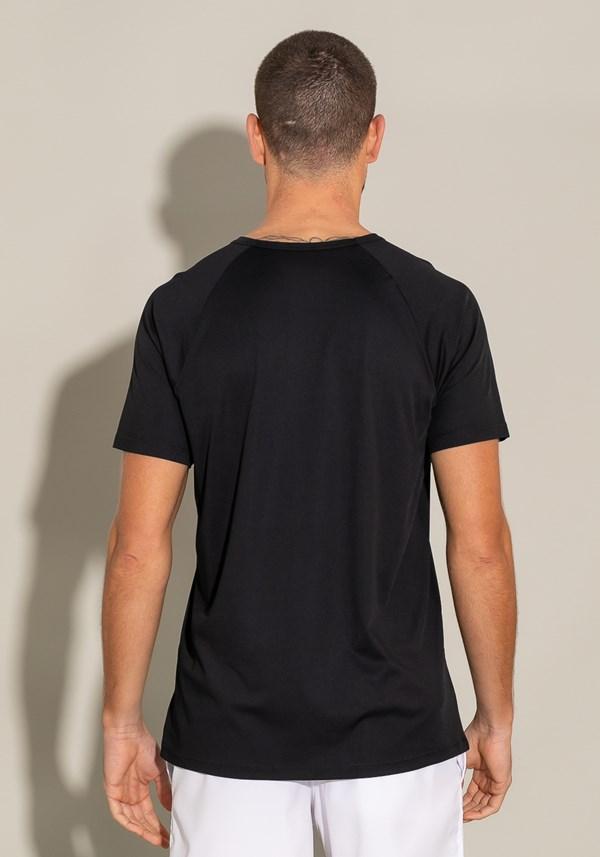 Camiseta poliamida manga curta modelo raglan for men preto