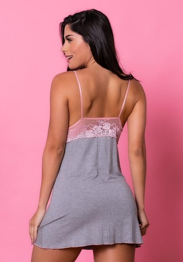 Camisola sem bojo intimate com renda mescla e rosa claro