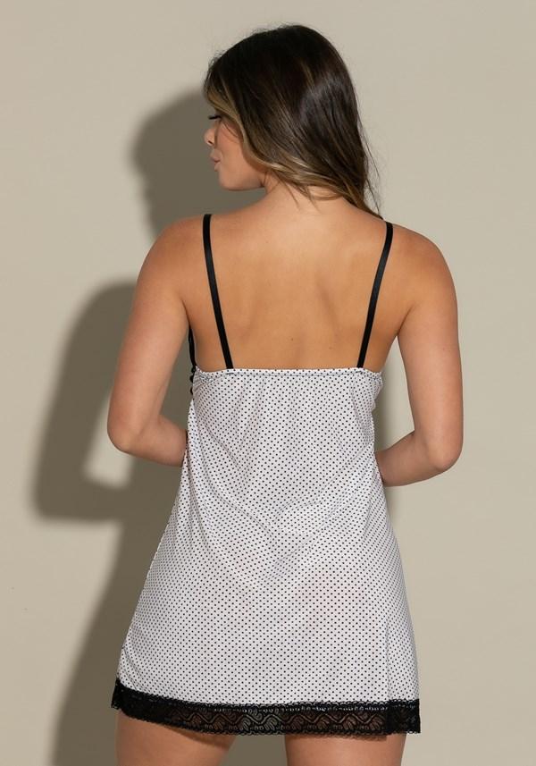 Camisola sem bojo intimate em poá branco com preto