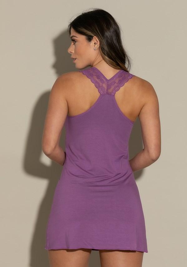 Camisola sem bojo modelo nadador intimate detalhe em renda lilás
