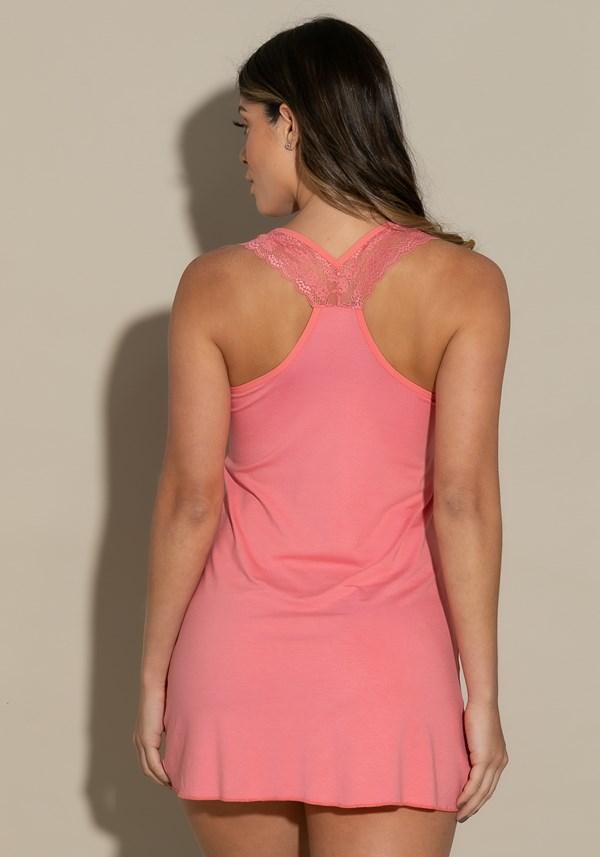 Camisola sem bojo modelo nadador intimate detalhe em renda rosa
