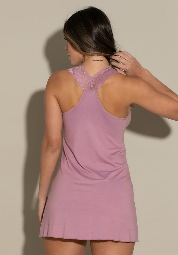 Camisola sem bojo modelo nadador intimate detalhe em renda rosé