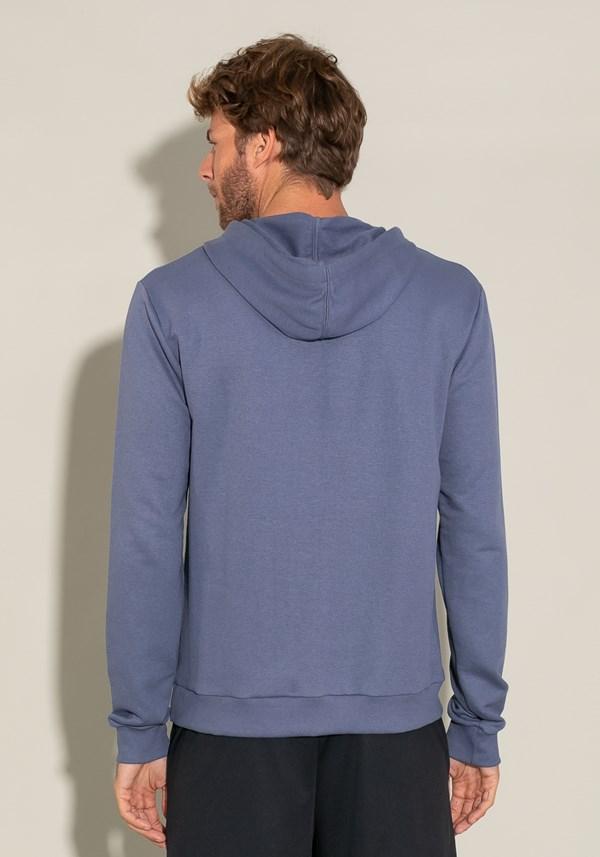 Casaco com capuz for men azul marinho com silk preto