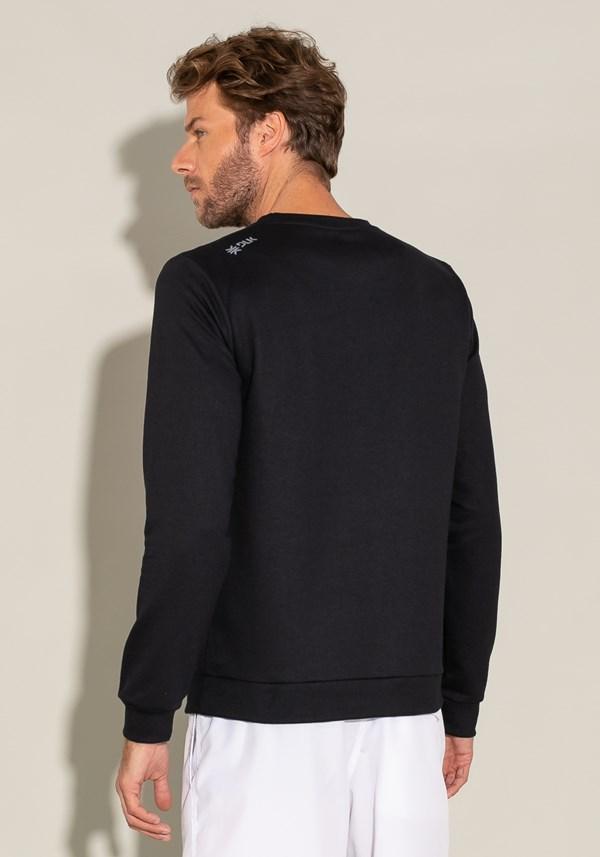 Casaco de moletom for men com silk preto