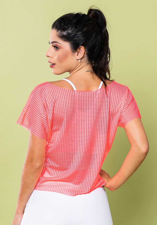 Cropped energy em tela rosa