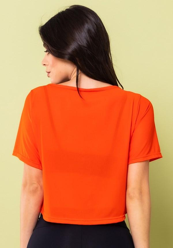 Cropped energy em tule laranja