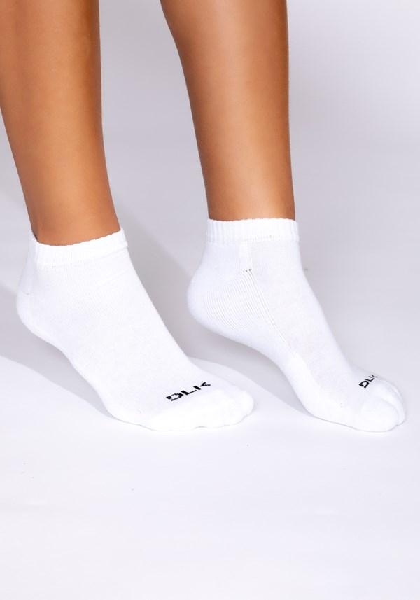 Kit meia 3x1 sapatilha esportiva básica branca