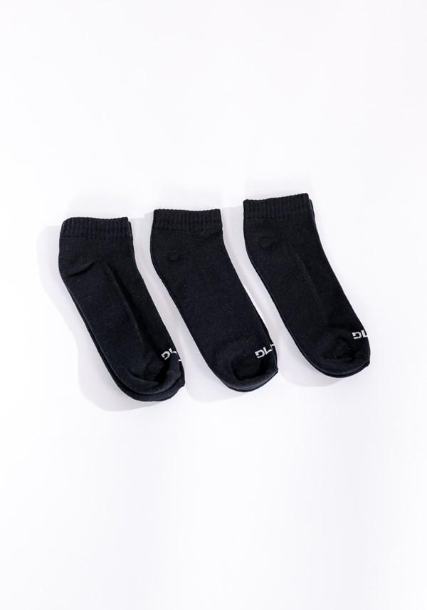 Kit meia 3x1 sapatilha esportiva básica preta