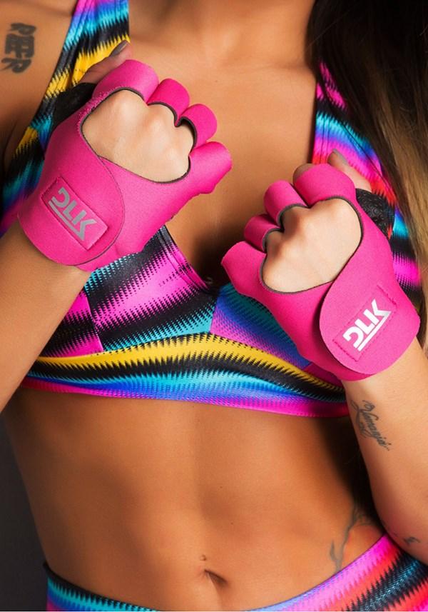 Luva fitness pink