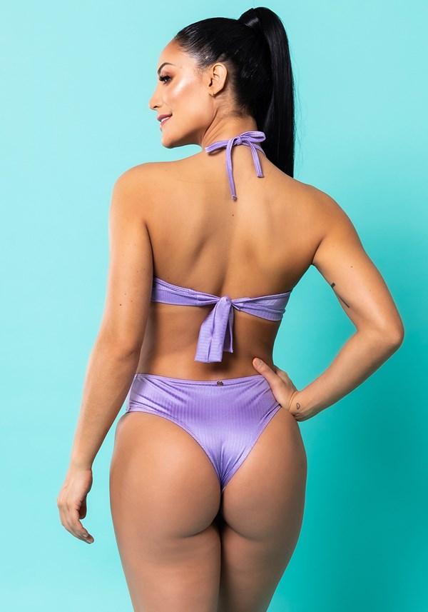 Maiô frente única lilás