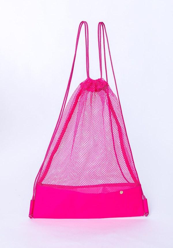 Mochila dlk beach modelo sacola rosa