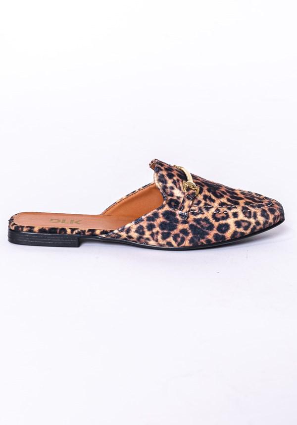Mule shoes animal print
