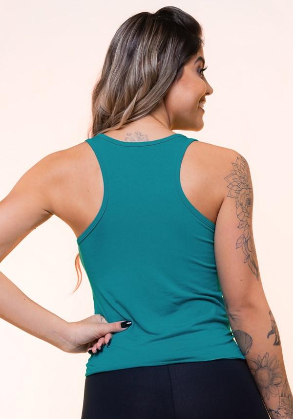Regata com nó frontal verde básica