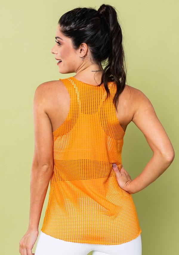 Regata energy nadador tela laranja