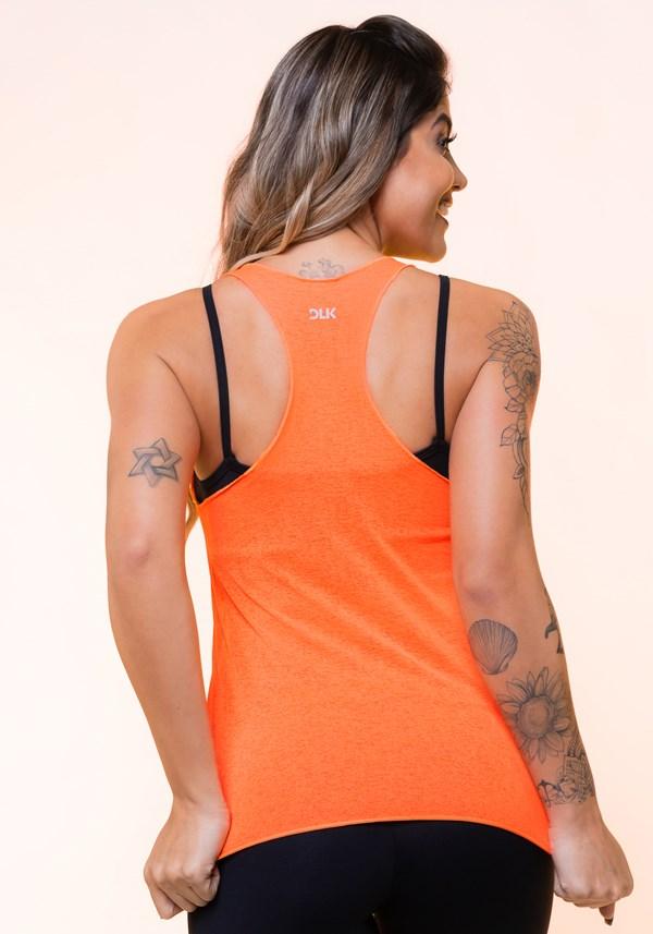 Regata nadador laranja neon básica