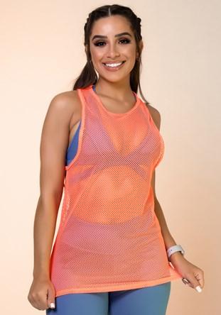 Produto Regata tela laranja neon básica