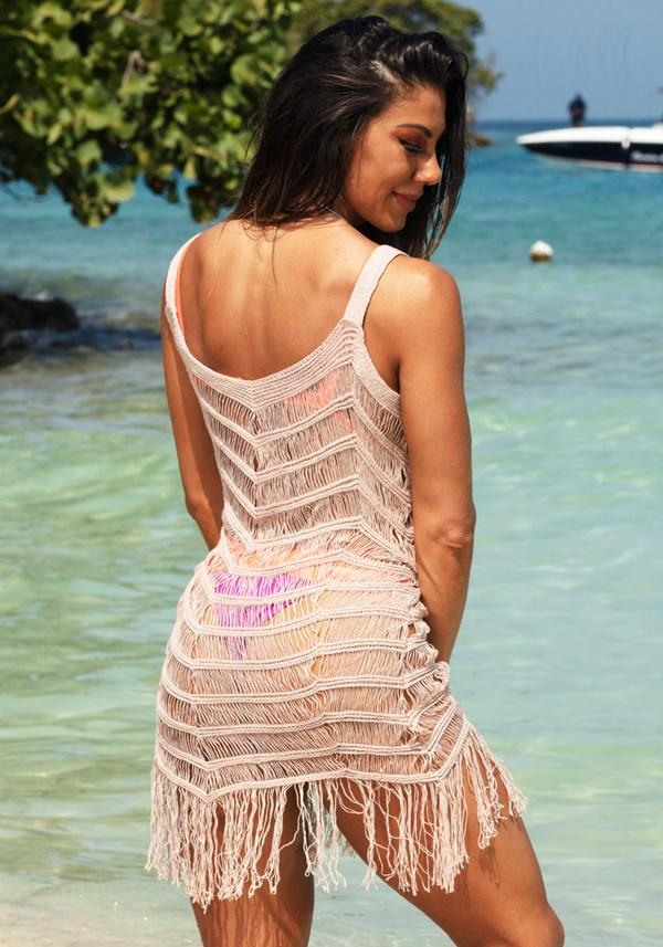 Saída de praia tricô nude