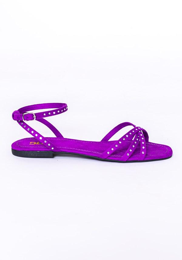 Sandália rasteira shoes lilás