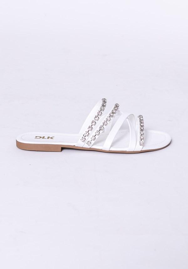 Sandália rasteirinha modelo skin shoes branca