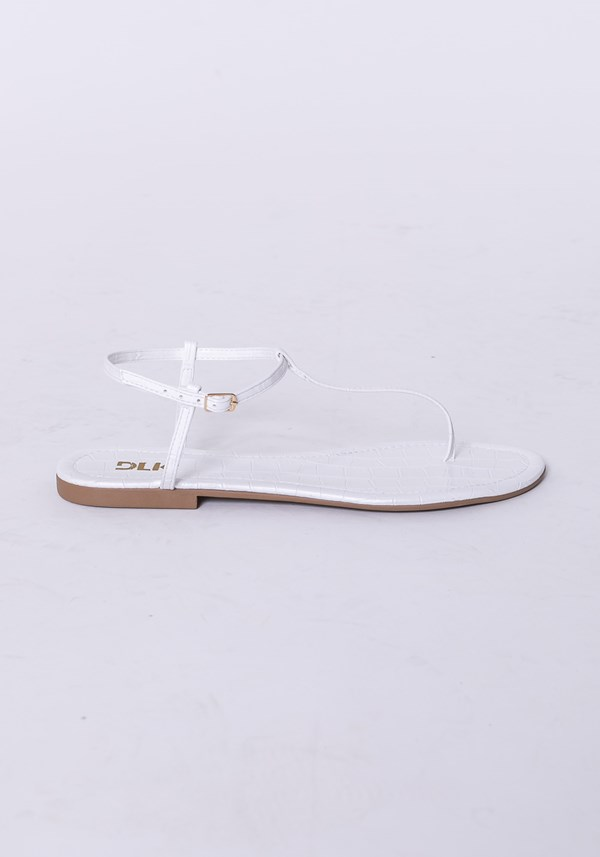 Sandália rasteirinha shoes animal print branco