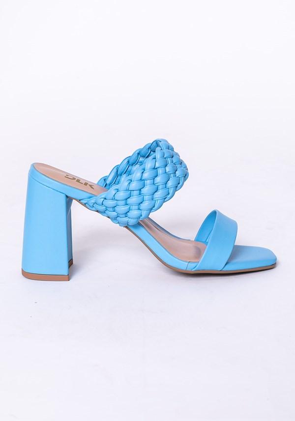 Sandália salto flare shoes azul