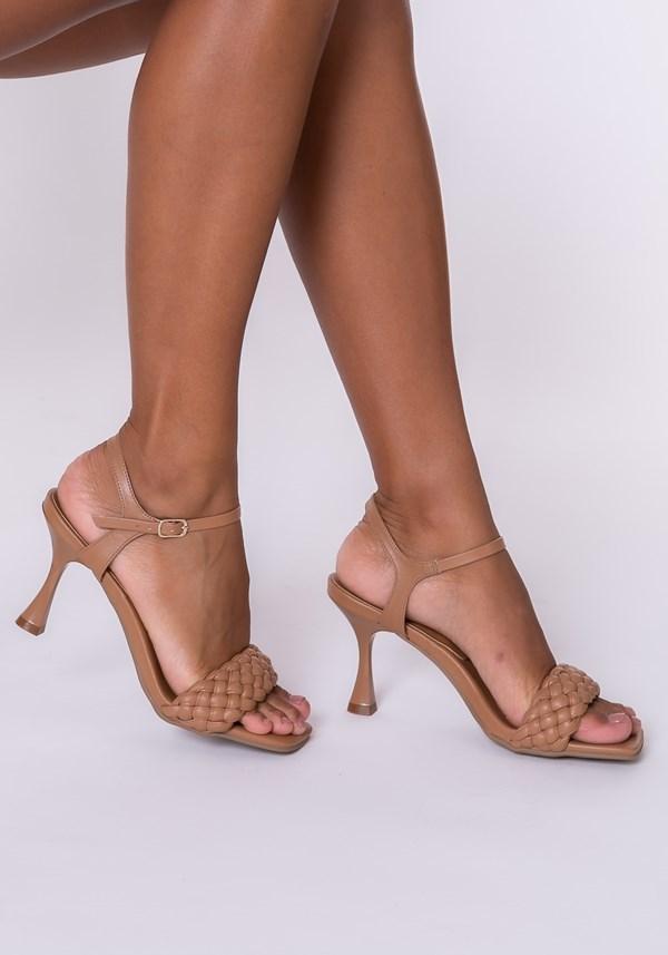 Sandália salto taça shoes marrom