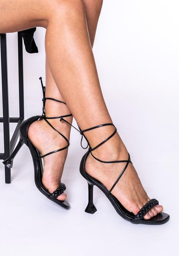 Sandália salto taça shoes preto
