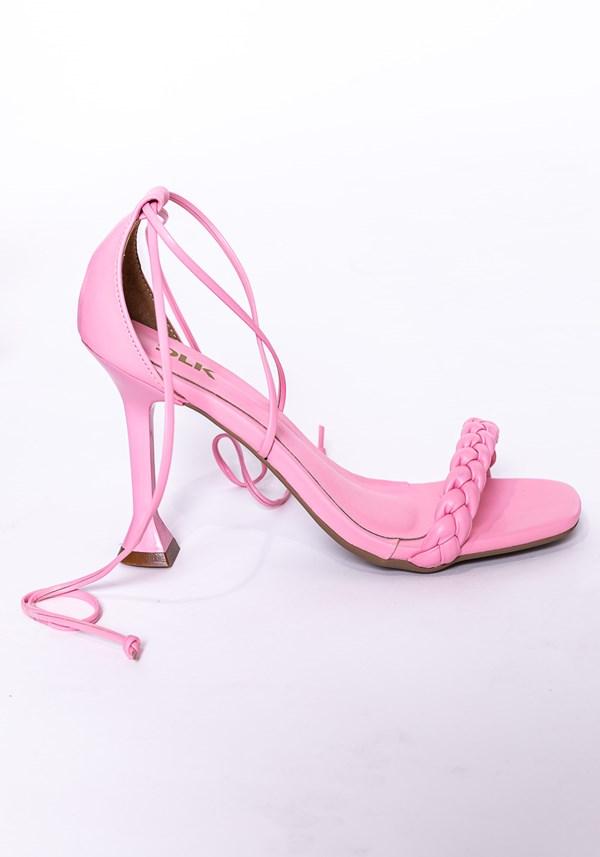 Sandália salto taça shoes rosa fosco