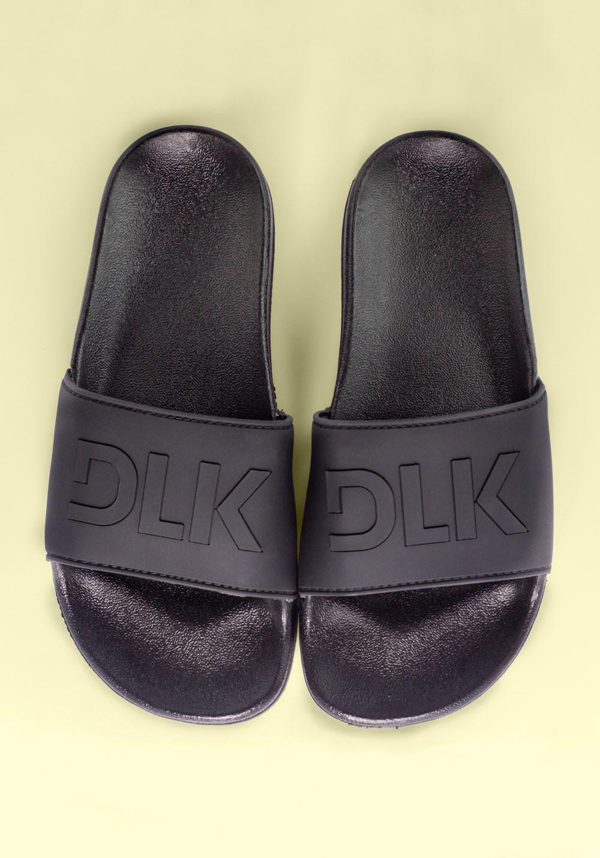 Sandália slide preta