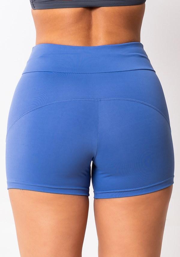 Short basic azul claro com cadarço